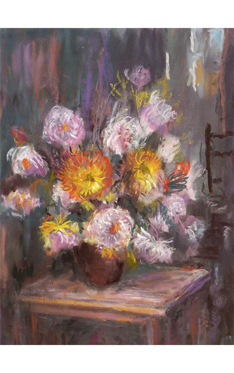 """<p></p> <p class=""""p1""""><span class=""""s1"""">Chrysanthèmes à la chaise</span></p>"""