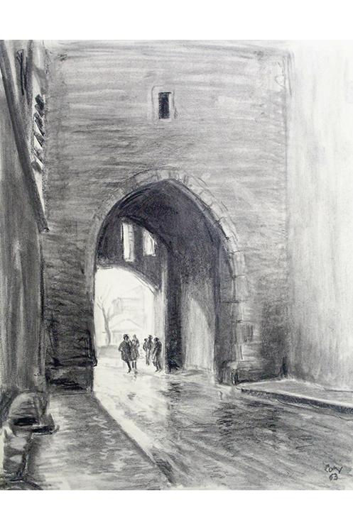 """<p></p> <p class=""""p1""""><span class=""""s1"""">La porte de la tour de l'horloge à Pont-de-Veyle</span></p>"""