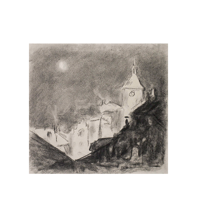 """<p></p> <p class=""""p1""""><span class=""""s1"""">Clair de lune sur les toits de Pont-de-Veyle</span></p>"""