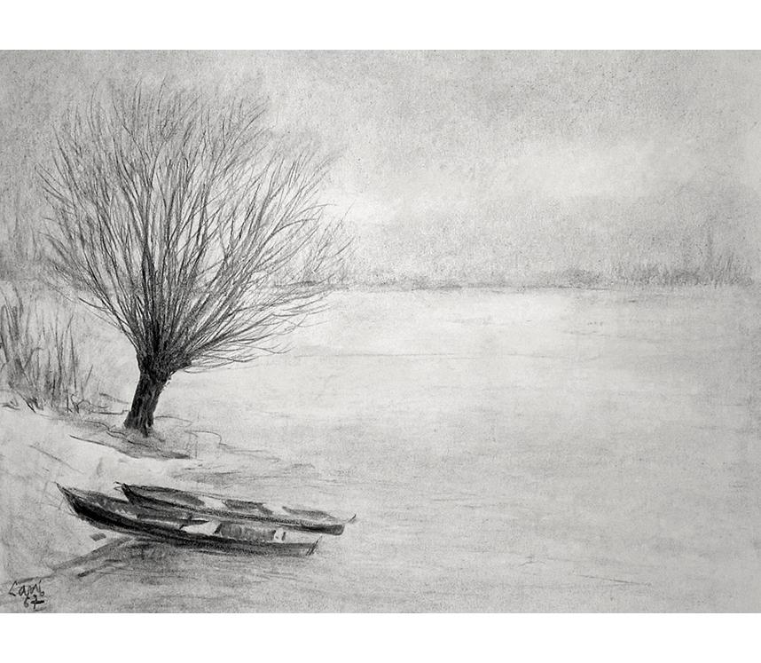 <p>Hiver au bord de Saône</p>