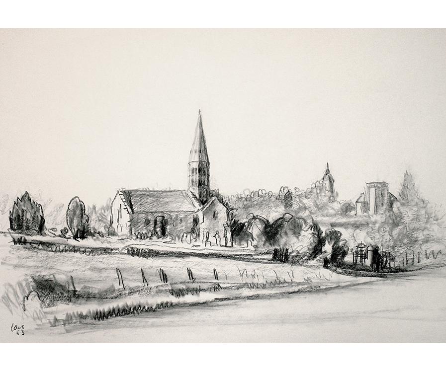 <p>L'église de Bâgé-le-Châtel</p>