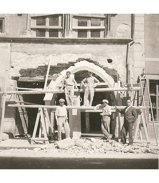 <p>La création d'une troisième arcade sur la façade Ouest.</p>