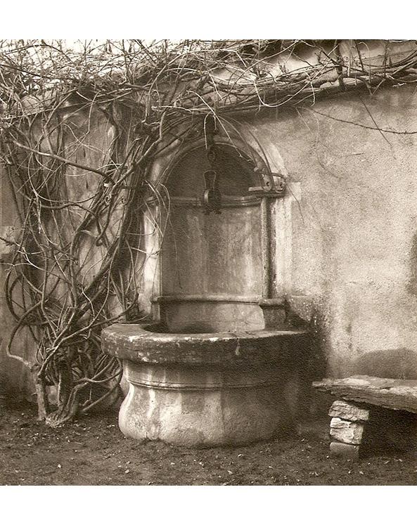 <p>Le puits de la cour.</p>