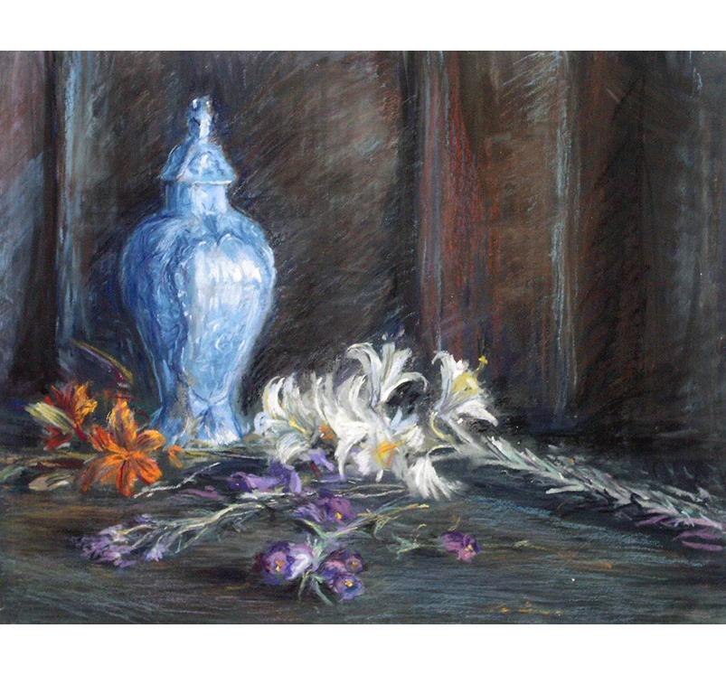 """<p></p> <p class=""""p1""""><span class=""""s1"""">Lys au vase de Delft</span></p>"""